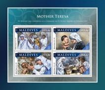 Maldives. 2016 Mother Teresa. (1112a)