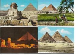 EGYPT - 10 VINTAGE POSTCARDS - STAMPS - 1960s / 70s ( 646 ) - Egypte
