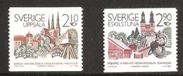 Sweden 1986 Norden: Partner Cities, Uppsala And Eskilstuna Mi  1395-1396  MNH(**)