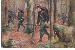 """ Chasseurs  à  Pied   ""  (   Militaire  )   Tuck   ""Oilette  "" - Beraud"