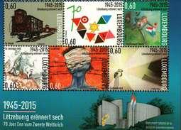 Luxembourg Bloc-Feuillet (6x0,60euro) 70. Anniversaire Souvenir Luxembourgeois De La Seconde Guerre Mondiale 2015
