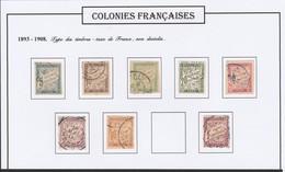 Colonies Françaises  -  Emissions Générales  Taxe N° 18 à 26 Sauf 25