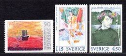 1978 SWEDEN PAINTINGS MICHEL: 1034-1036 MNH **