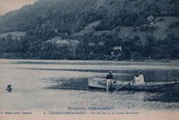 CP CHARAVINES LES BAINS - 1923 - Vue Du Lac Et Le Coteau Montivier - N°9 - F. Vialatte, Phot. Oyonnax - Charavines