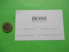 BOSS HUGO    -  Carte Parfumée - Modernes (à Partir De 1961)