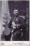 Foto Deutscher Offizier Mit Säbel - Atelier Gotthardt, Höxter, 16*10cm - Ca. 1900 (27396) - Guerre, Militaire