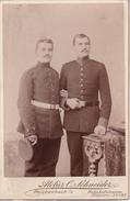 Foto 2 Deutsche Soldaten - Atelier Schneider, Reichenbach I.V. - 14*10cm - 1. WK (27398) - Krieg, Militär