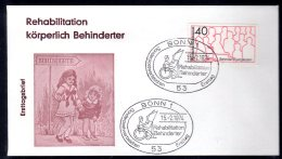 1974 Germany / BRD - Rehabilitation Behinderter / Reabilitation Of  Disabled - FDC Bonn