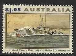 1993 $1.05 World War II Ship, HMAS Arunta, Used