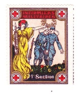 Vignette Militaire Delandre - 1ère Section D'infirmiers Militaires - Vignette Militari