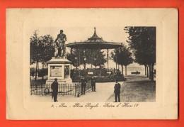 IAK-08  Pau  Place Royale Statue D'Henry IV. ANIME. Cachet 1912 - Pau