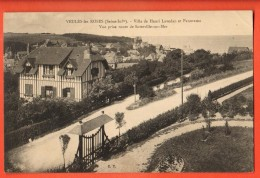 IAK-09  Veules-les-Roses. Villa De Henri Lavedan Et Panorama Vue Prise De Sotteville-sur-Mer. Cachet 1912 - Veules Les Roses