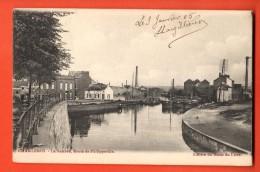 IAK-14  Charleroi  La Sambre, Route De Philippeville. Précurseur. Cachet 1905 - Charleroi