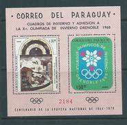 Paraguay 1968 Grenoble Winter Olympics Miniature Sheet MNH - Paraguay