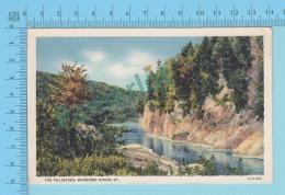 Winooski River VT- The Palisades, Linnen Postcard Lin -  Vintage Ancienne - 2 Scans - Etats-Unis