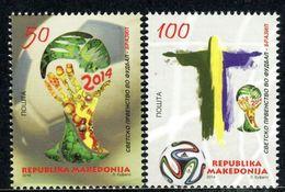 MACEDONIA 2014 World Football Cup Brasil MNH - Mazedonien
