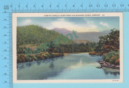 Winooski River VT- View Of Camel's Hump, Linnen Postcard Lin -  Vintage Ancienne - 2 Scans - Etats-Unis