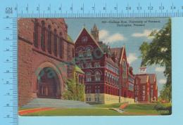 Burlington VT -  College Row University  - Linnen Postcard Lin -  Vintage Ancienne - 2 Scans - Etats-Unis