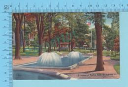 St. Albans VT - A Corner Of Taylor Park  - Linnen Postcard Lin -  Vintage Ancienne - 2 Scans - Etats-Unis