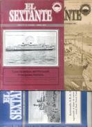 EL SEXTANTE - GRUPO DE FILATELIA NAVAL BUENOS AIRES ARGENTINA 3 REVISTAS DIFERENTES LOTE LOT - Correo Marítimo E Historia Postal