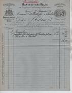 Facture Manufacture Belge De Parapluies&Ombrelles Mons 7/11/1885 Superbe De Fraîcheur PR3939 - Belgium