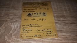 Old Personal Document - Federation Francaise Des Ausberges De La Jeunesse - Autres