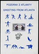 550-SLOVAKIA Postcard ATLANTA Olympiade-Olympia Greeting From Atlanta Sports Symbols Mix 1996