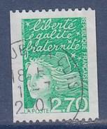 = Marianne Du 14 Juillet, De Luquet 2.70 Vert, De Roulette Oblitérée N° 3100 - Rollo De Sellos