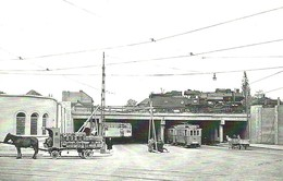 VECHILE * RAIL RAILWAY RAILROAD TRAIN LOCOMOTIVE TRAM TRAMWAY * HORSE CART CARRIAGE ANIMAL BUDAPEST * ZM 07 01 * Hungary - Postcards