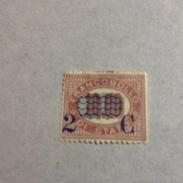27293) REGNO 1878 FRANCOBOLLI SERVIZIO DI STATO SOPRASTAMPATI CENT 2 SU £ 10 Senza Gomma