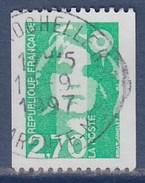 = Type Marianne Du Bicentenaire, De Briat  2.70f  Vert  De Roulette Oblitérée 3008 - Coil Stamps