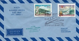 HUNGARY - 1971.Airmail Cover - Postal Service By 1st Budapest-Dresden Airline (Airplane) Mi 2281,2283,1925
