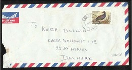Zambia Air Mail Postal Used Cover Zambia To Denmark  Birds - Zambia (1965-...)