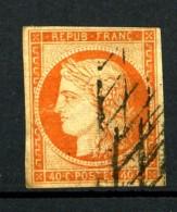 5 - 40c Orange Cérès 1849 - Oblitéré Grille Sans Fin - Cote 500 Eur.