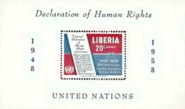 Liberia,  Scott 2017 # C119,  Issued 1958,  S/S Of 1,  MNH,  Cat $ 2.75,  UN - Liberia
