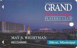 Grand Casino Biloxi MS - 3rd Issue Slot Card - Certified Logo Reverse - Faraday Over Mag Stripe - Casino Cards