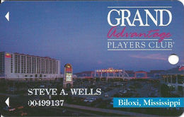 Grand Casino Biloxi MS - 4th Issue Slot Card - Certified Logo Reverse - Cameo Icon Over Mag Stripe - Casino Cards