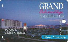 Grand Casino Biloxi MS - 6th Issue Slot Card - Certified Logo Reverse - Nothing Over Mag Stripe - Casino Cards
