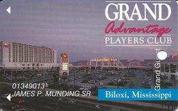 Grand Casino Biloxi MS - 7th Issue Slot Card - No Certified Logo Reverse - Grand Guest Printing - Casino Cards