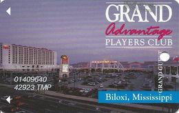 Grand Casino Biloxi MS - 7th Issue Slot Card - No Certified Logo Reverse - Tmp Name - Casino Cards