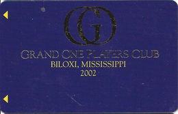 Grand Casino Biloxi MS - Grand One Players Club 2002 Slot Card - BLANK - Casino Cards