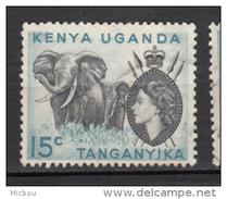 Kenya, Uganda, Ouganda, Tanganyika, éléphant, élizabeth II