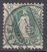 SWITZERLAND    SCOTT NO.96A     USED       YEAR 1901       PERF  11.5x12