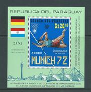 Paraguay 1971 Munich Olympics Miniature Sheet MNH - Paraguay