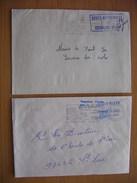 Réunion : Deux Lettres Avec Cachets D'écoles : Ecole Maternelle Des Colimaçons Et École Mixte Etang Saint-Leu.