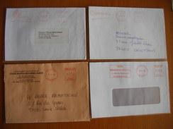 Réunion : Quatre Lettres Avec  Empreintes De Machines à Affranchir