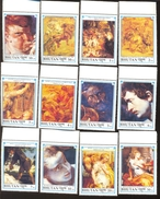 MINT N H SET OF STAMPS  BHUTAN 980-91  ART ; PAINTINGS ; PETER PAUL RUBENS