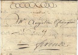 1734- Lettre Sans Marque De Lyon Pour Firenze , écrite En Italien  - SUPERBE - 1701-1800: Precursors XVIII