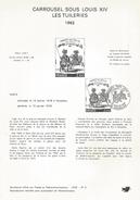 NOTICE PTT 1978 CARROUSEL SOUS LOUIS XIV - Documents Of Postal Services