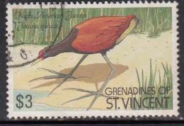 $3 Jacana Spinosa Used, Bird, 1990 Birds Series,  Grenadines Of St.Vincent CTO